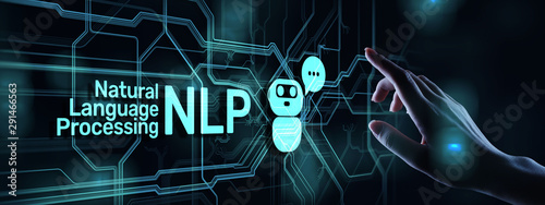 Canvastavla NLP natural language processing cognitive computing technology concept on virtual screen