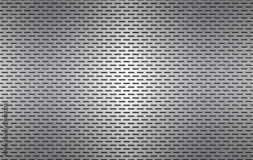 Structured silver perforated metal texture, aluminium grating, abstract metallic Canvas-taulu