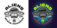 Aliens Vector Emblem Two Style...