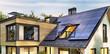 Leinwandbild Motiv Solar panels on the roof of a modern house