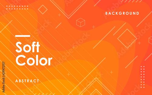 Obraz Orange liquid color background. Dynamic textured geometric element decoration. Modern gradient light vector illustration. - fototapety do salonu