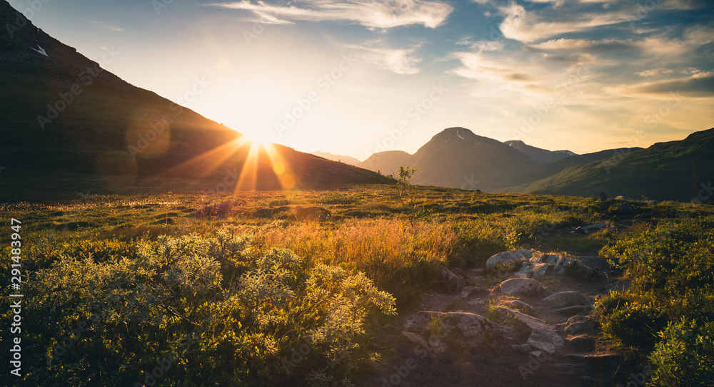 Fototapety, obrazy: Sunset in Trollheimen mountains, Norway.