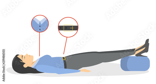Fainting first aid. What to do in emergency situation Wallpaper Mural
