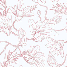 Seamless Floral Pattern With M...
