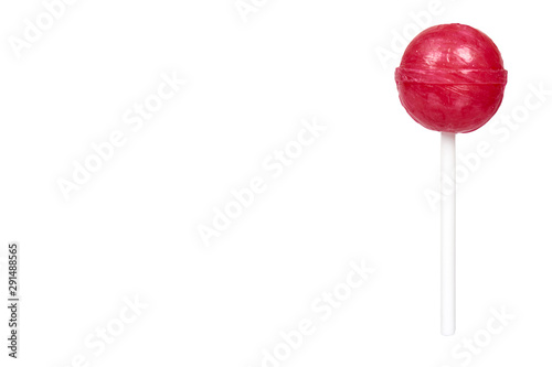Photographie Color lollipop, bright cool candy. Isolated background