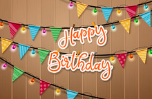 Happy Birthday Hanging Vector ...