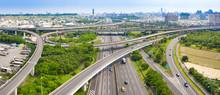 Aerial View Of  Freeway Interc...