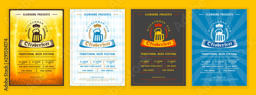 Slika na platnu Oktoberfest beer festival celebration
