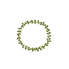 Watercolor Illustration A Round Wreath Of Green Leaves Painted With Watercolor By Hand And Is Perfect For All Types Of Design And Printing.