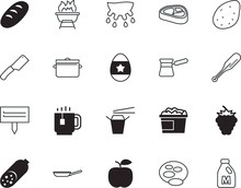 Food Vector Icon Set Such As: Line, Bag, Nugget, Espresso, Horn, Pig, Sticker, Spa, Holiday, Delivery, Face, Yoga, Spot, Flip, Chopstick, Pork, Old, China, Chicken, Sirloin, Menu, Editable, Top