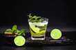 Mojito is a white rum-based cocktail from Cuba. It is known to have flourished in Havana night using native Caribbean ingredients. Typical summer tourist drink.