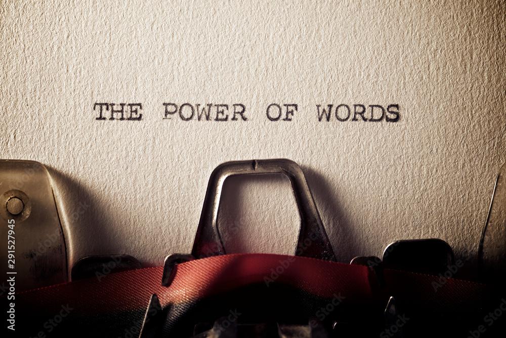 Fototapeta The power of words