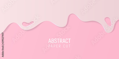 Fotografía Pink abstract paper cut slime background