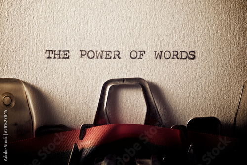Fototapeta The power of words