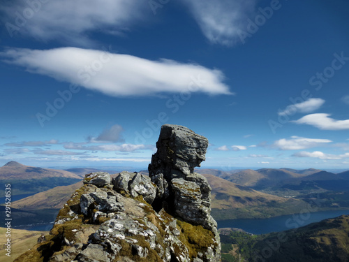 Photo The Cobbler Felsen Ben Arthur in der Nähe von Loch Long