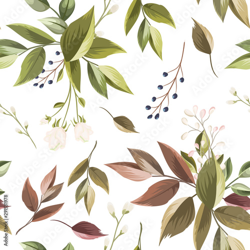 beautiful-floral-and-leaves-seamless-pattern
