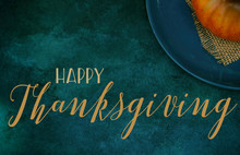 Happy Thanksgiving Banner On T...