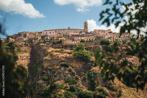 Panoramic view of Santa Severina town in Calabria, Italy