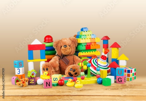 Toys collection isolated on white background #291547909