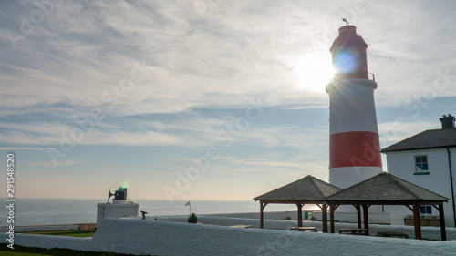 Photo Souter Lighthouse and The Foghorn at Marsden Bay, South Shields, Tyne and Wear, England UK