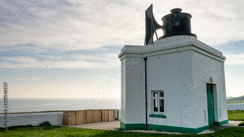 Photo The Foghorn at Souter Lighthouse Marsden Bay, South Shields, Tyne and Wear, England UK
