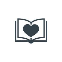 Book Love Concept Logotype Tem...