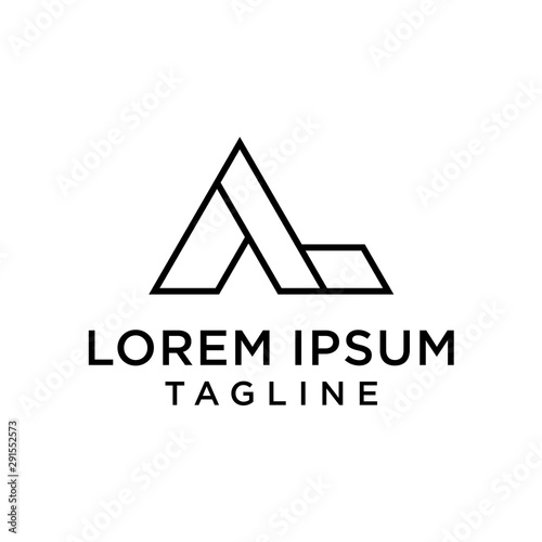Al La Letters Logo Monogram Buy This Stock Vector And Explore Similar Vectors At Adobe Stock Adobe Stock