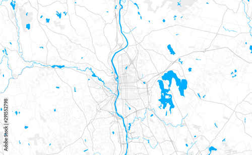 Rich detailed vector map of Manchester, New Hampshire, USA