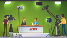 TV Live News Show Host Video I...