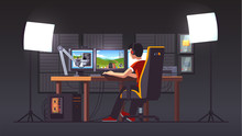 Cyber Sport Pro Gamer Live Streaming Game Match