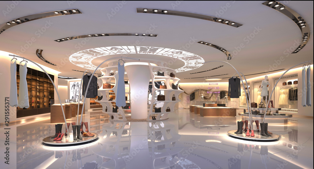 Fototapeta 3d render of shop