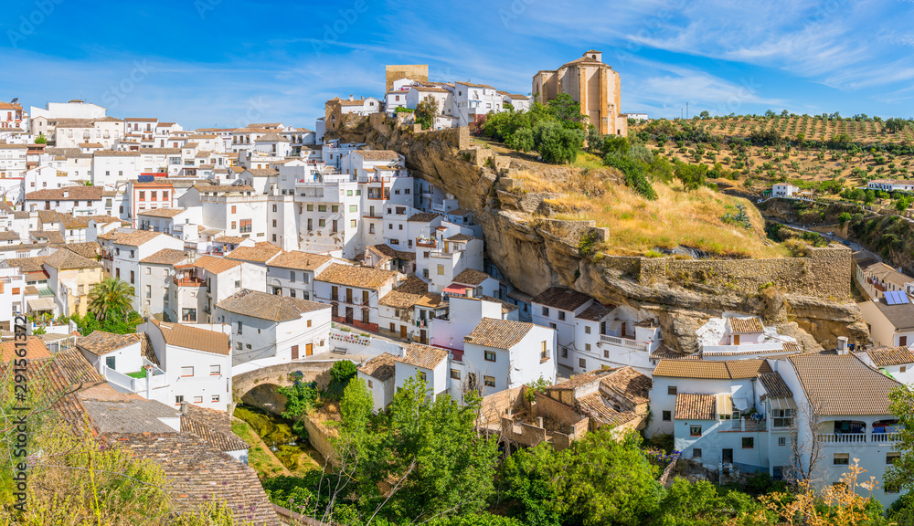 Fototapeta The beautiful village of Setenil de las Bodegas, Provice of Cadiz, Andalusia, Spain.