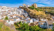 The Beautiful Village Of Setenil De Las Bodegas, Provice Of Cadiz, Andalusia, Spain.