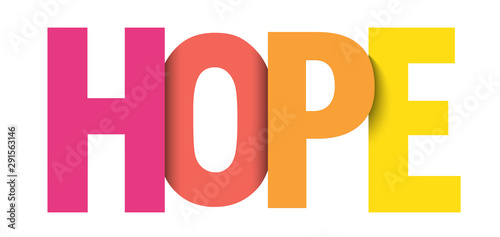 HOPE colorful vector typography banner Wallpaper Mural