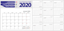 French Calendar Planner For 20...