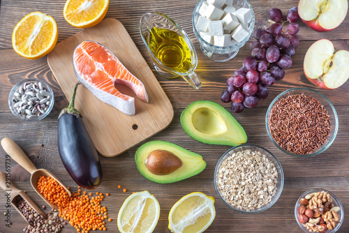 Obraz Foods providing low cholesterol diet - fototapety do salonu