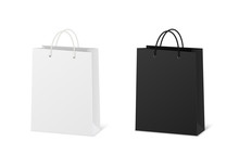 Blank Shopping Paper Bags Mock...