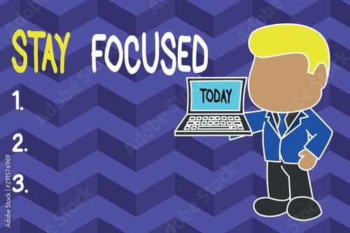 Obraz na plátně  Word writing text Stay Focused