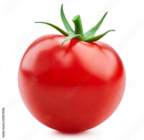 Fototapeta Tomato vegetables isolated on white