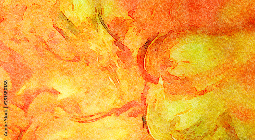 Fototapety, obrazy: Abstract watercolor texture background. Oil painting style