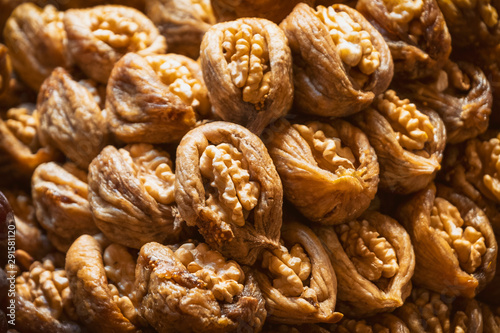 Walnuts Placed Inside Dried Figs, Traditional Turkish Dessert Canvas Print