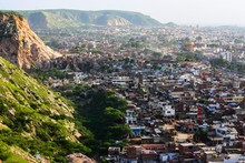 Aerial View Of Jaipur City In India