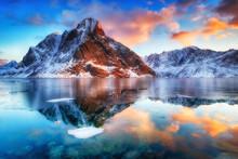 Beautiful Sunrise In Norway - Lofotens