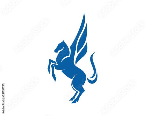 Fotografiet Standing Pegasus a Legend Creature Vector