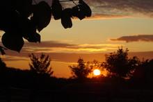 Summer Sunset Over Banham In The Norfolk Countryside, England, UK