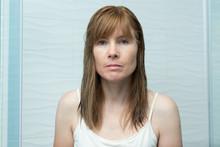 Caucasian Woman With No Makeup...