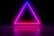 canvas print picture Colored luminous geometric shape on a black background.