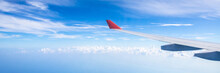 Panorama Of Plane Wing Above N...