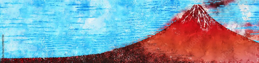 Kaifu ładna, szeroka wersja akwareli <span>plik: #291617700 | autor: KIMASA</span>