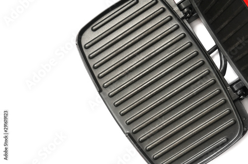 Valokuvatapetti Electric grill for home use on a white background